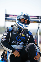 Oct 14, 2017; Ennis, TX, USA; NHRA top fuel driver Shawn Langdon during qualifying for the Fall Nationals at the Texas Motorplex. Mandatory Credit: Mark J. Rebilas-USA TODAY Sports