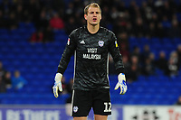 Alex Smithies of Cardiff City in action during the Sky Bet Championship match between Cardiff City and Queens Park Rangers at the Cardiff City Stadium in Cardiff, Wales, UK. Wednesday 02 October, 2019