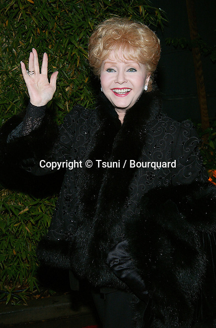 "Debbie Reynolds arriving at the ""Will & Grace"" 100th Episode Celebration at the Falcon Restaurant in Los Angeles. November 8, 2002.            -            ReynoldsDebbie01.jpg"