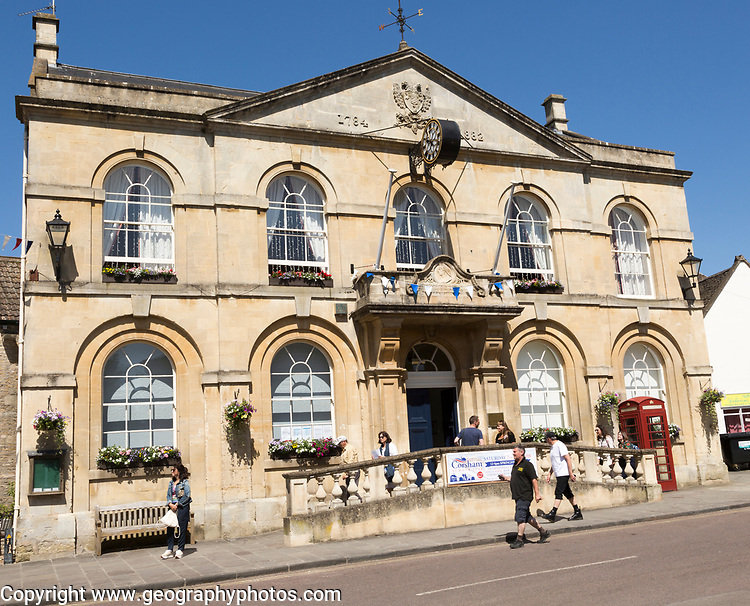 Georgian architecture of Town Hall building, Corsham, Wiltshire, England, UK dating from 1784