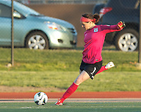Chicago Red Stars goalkeeper Erin McLeod (1). In a National Women's Soccer League Elite (NWSL) match, the Boston Breakers (blue) defeated Chicago Red Stars (white), 4-1, at Dilboy Stadium on May 4, 2013.