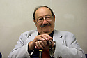 Umberto Eco, Italian writer and semiologist, poses before to begin his speach at Milanesiana twelfth edition in Milan, July 2011. Milanesiana is a literature, music, cinema, science, art, philosophy and videogames festival. © Carlo Cerchioli..Umberto Eco, scrittore e semiologo, posa prima di iniziare il suo intervento alla 12 edizione della Milanesiana, festival di letteratura, musica, cinema, scienza, arte, filosofia e videogiochi, Milano, luglio 2011.