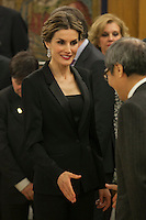 Queen Letizia of Spain during a Royal Audience at Zarzuela Palace in Madrid, Spain. January 29, 2015. (ALTERPHOTOS/Victor Blanco) /nortephoto.com<br /> nortephoto.com