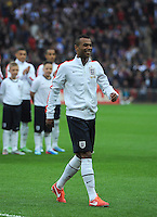 29.05.2013 London, England. Ashley Cole steps forward for a presentation to mark his 100th England cap before the International Friendly between England and Republic of Ireland from Wembley Stadium.