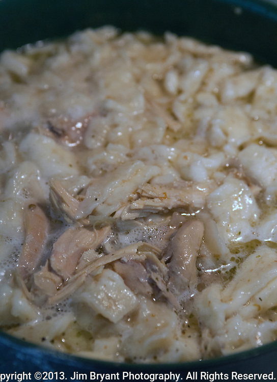 Chicken and dumplings.  ©2013. Jim Bryant Photo. All Rights Reserved.
