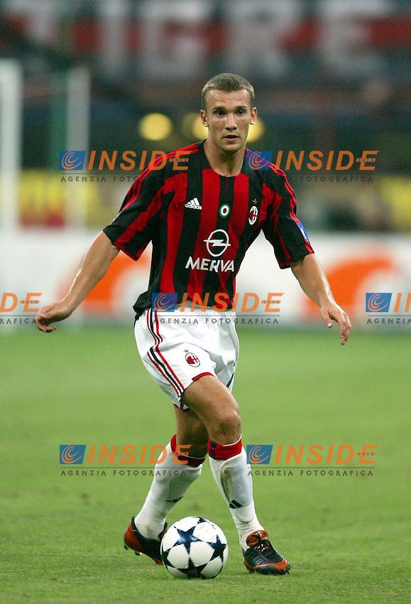 Milano 17/8/2003<br /> Trofeo Berlusconi<br /> Milan - Juventus 0-2<br /> Andrej Shevchenko (Milan) <br /> Foto Andrea Staccioli Insidefoto