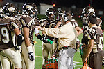 Torrance, CA 11/05/10 - Coach Greg Holt in action during the Peninsula vs West varsity football game played at West Torrance high school.