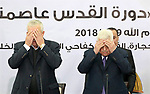 Palestinian President Mahmoud Abbas chairs a meeting for the Advisory Council of the Fatah movement in the West Bank city of Ramallah on December 9, 2018. Photo by Ahmad Arouri