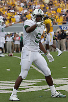 Marshall wide receiver Antavious Wilson. The WVU Mountaineers beat the Marshall Thundering Herd 34-13 in a game called just after the fourth quarter started because of severe thunderstorms in the area. The game was played at Milan Puskar Stadium in Morgantown, West Virginia on September 4, 2011.