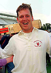 Pix: Shaun Flannery/shaunflanneryphotography.com...COPYRIGHT PICTURE>>SHAUN FLANNERY>01302-570814>>07778315553>>..28th August 1998..............Doncaster Town v Bath..Abbot Ale Cup final at Lords..Doncaster Town's Gareth Dawson who scored the winning run against Bath in the Abbots Ale Cup at Lords.