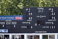Kent overtake Yorkshire's first innings total of 210 during Kent CCC vs Yorkshire CCC, Specsavers County Championship Division 1 Cricket at the St Lawrence Ground on 15th May 2019