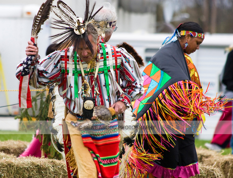 Native Americans dance at the Healing Horse Spirit PowWow in Mt. Airy, Maryland.