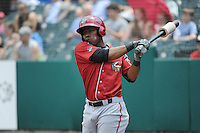 Altoona Curve infielder Gift Ngeope (10) during game against the New Britain Rock Cats  at New Britain Stadium on June 25, 2014 in New Britain, Connecticut. New Britain defeated Altoona 3-1.  (Tomasso DeRosa/Four Seam Images)