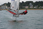 Olympic gold medalist Paul Goodison racing his Moth