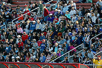 Piscataway, NJ, April 24, 2016.  Fans look on as Sky Blue takes on the Washington Spirit.  The Washington Spirit defeated Sky Blue FC 2-1 during a National Women's Soccer League (NWSL) match at Yurcak Field.
