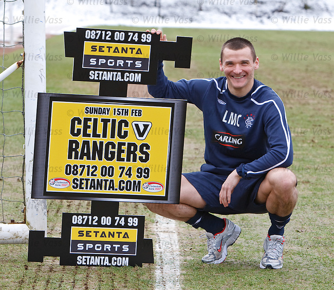 Lee McCulloch promotes the Celtic v Rangers match for Setanta TV