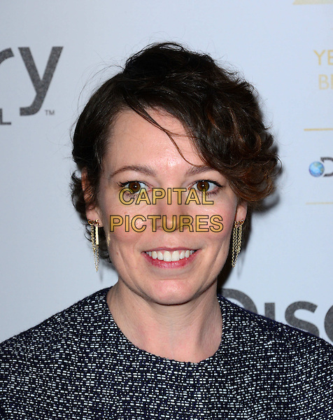 LONDON, ENGLAND - MARCH 28: Olivia Colman attend the Broadcasting Press Guild Awards sponsored by The Discovery Channel at Theatre Royal on March 28, 2014 in London, England.<br /> CAP/JOR<br /> &copy;Nils Jorgensen/Capital Pictures
