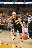 8 April 2008: Stanford Cardinal Rosalyn Gold-Onwude during Stanford's 64-48 loss against the Tennessee Lady Volunteers in the 2008 NCAA Division I Women's Basketball Final Four championship game at the St. Pete Times Forum Arena in Tampa Bay, FL.