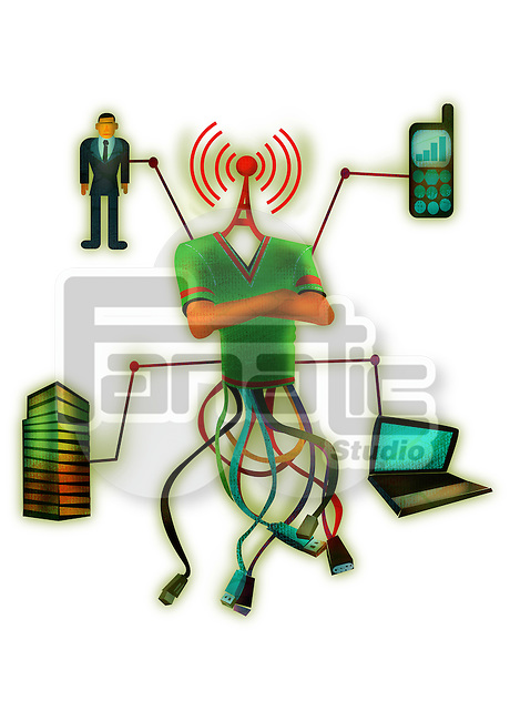 Concept of networking through wireless technology