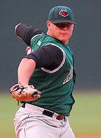 30 August 2007: Ben Snyder of the Augusta GreenJackets, Class A South Atlantic League affiliate of the San Francisco Giants, in a game against the Greenville Drive at West End Field in Greenville, S.C. Photo by:  Tom Priddy/Four Seam Images
