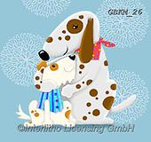 Kate, CUTE ANIMALS, LUSTIGE TIERE, ANIMALITOS DIVERTIDOS, paintings+++++Bandana dog & child 2,GBKM26,#ac#, EVERYDAY