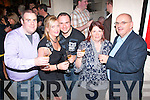 Lesley Harris, Cahermoneen and William O'Callaghan, Killarney (front 2nd&3rd Lt) enjoying a glass of champagne at their engagement party in Teach beag, Tralee last Friday night surrounded by many friends and family.