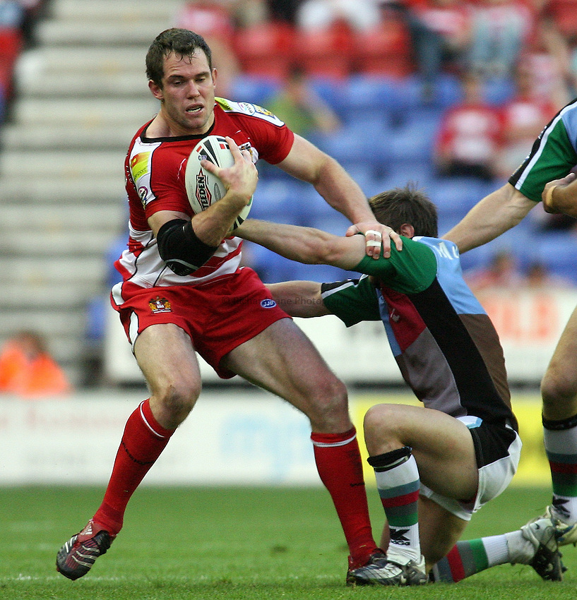 Photo: Paul Thomas..Wigan Warriors v Harlequins RL. Carnegie Challenge Cup. 08/06/2007...Pat Richards of Wigan.