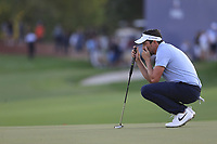 Mike Lorenzo-Vera (FRA) on the 18th during the 3rd round of the DP World Tour Championship, Jumeirah Golf Estates, Dubai, United Arab Emirates. 23/11/2019<br /> Picture: Golffile | Fran Caffrey<br /> <br /> <br /> All photo usage must carry mandatory copyright credit (© Golffile | Fran Caffrey)
