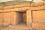Hagar Qim neolithic megalithic prehistoric temple complex site, Malta