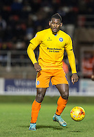 Aaron Pierre of Wycombe Wanderers looks for options during the Sky Bet League 2 match between Dagenham and Redbridge and Wycombe Wanderers at the London Borough of Barking and Dagenham Stadium, London, England on 9 February 2016. Photo by Andy Rowland.