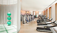 Workout and fitness center at Icon condominiums, 450 Alton Road, South Beach.