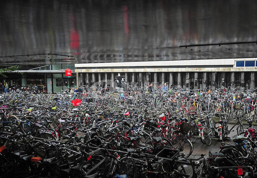 Amsterdam Netherlands Holland bike rack bicycle transportation parking lock Europe