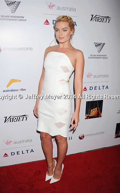 SANTA MONICA, CA- OCTOBER 26: Actress Margot Robbie attends the 3rd Annual Australians in Film Awards Benefit Gala at the Fairmont Miramar Hotel on October 26, 2014 in Santa Monica, California.