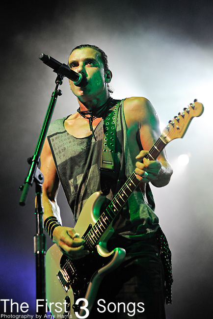 Gavin Rossdale of Bush performs at PNC Pavilion at Riverbend Music Center in Cincinnati, Ohio on October 7, 2011.