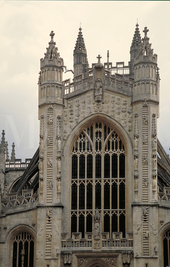 Bath, England. ornate, gothic architecture, religions, Christianity, cathedral. England.