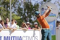 Yusaku Miyazato (JPN)  on the 10th tee during the second round of the Mutuactivos Open de Espana, Club de Campo Villa de Madrid, Madrid, Madrid, Spain. 04/10/2019.<br /> Picture Hugo Alcalde / Golffile.ie<br /> <br /> All photo usage must carry mandatory copyright credit (© Golffile | Hugo Alcalde)