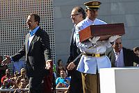 RIO DE JANEIRO, RJ, 15 AGOSTO 2012 - VISITA DA BANDEIRA OLIIMPICA AO COMPLEXO DO ALEMAO- O Governador Sergio Cabral, o Vice Governador Andre Pezao e Carlos Arthus Nuzman,na cerimonia de visitacao da Bandeira Olimpica no Complexo do Alemao em Bonsucesso zona nortedo Rio de Janeiro.(FOTO:MARCELO FONSECA / BRAZIL PHOTO PRESS).