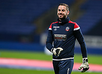Bolton Wanderers' Remi Matthews warming up before the match <br /> <br /> Photographer Andrew Kearns/CameraSport<br /> <br /> The EFL Sky Bet Championship - Bolton Wanderers v West Bromwich Albion - Monday 21st January 2019 - University of Bolton Stadium - Bolton<br /> <br /> World Copyright © 2019 CameraSport. All rights reserved. 43 Linden Ave. Countesthorpe. Leicester. England. LE8 5PG - Tel: +44 (0) 116 277 4147 - admin@camerasport.com - www.camerasport.com