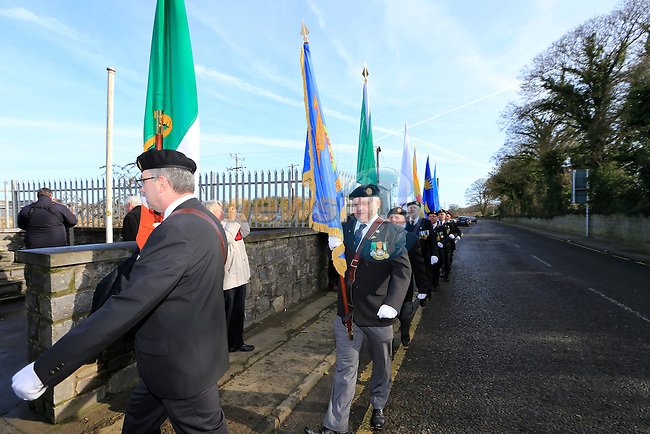 The Halping Memorial reath laying by members of the Drogheda Borough council and Members of the Drogheda & Slane ONE.<br /> Picture: Fran Caffrey www.newsfile.ie