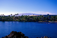 View of Hilton Waikoloa Village, on the Big Island, across water