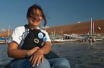Hesti Widodo, RARE Pride Campaign Manager is always exuberant in the field. Papagaran island, Komodo National Park