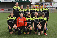 20190427 - Waregem , BELGIUM :  team of Bredene A with Tiffany Ryckewaert   Silke Willem   Jolien De Block   Celine Vanheste   Cindy Mundorff   Audrey Pelkmans   Joke Van De Velde   Lisa Quartier   Tatjana Ryckewaert   Alaia Annot   Sarah Metsu    pictured during the final of the Beker van West-Vlaanderen 2019 , a soccer women game between SV Bredene and Famkes Westhoek Diksmuide Merkem B  , in the  Mirakelstadion in Waregem , Satuday 27 th April 2019 . PHOTO SPORTPIX.BE | DIRK VUYLSTEKE