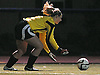 Suffolk Team goalie Cassidy Hock (Islip HS) controls a loose ball during the first of two Long Island varsity girls' soccer senior all-star games against Nassau at Bethpage High School on Friday, November 27, 2015.<br /> <br /> James Escher