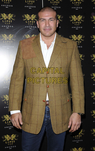 Tamer Hassan<br /> The Lipsy VIP Fashion Awards 2013, DSTRKT, Rupert St., London, England.<br /> May 29th, 2013<br /> half length white shirt brown check suit jacket<br /> CAP/CAN<br /> &copy;Can Nguyen/Capital Pictures