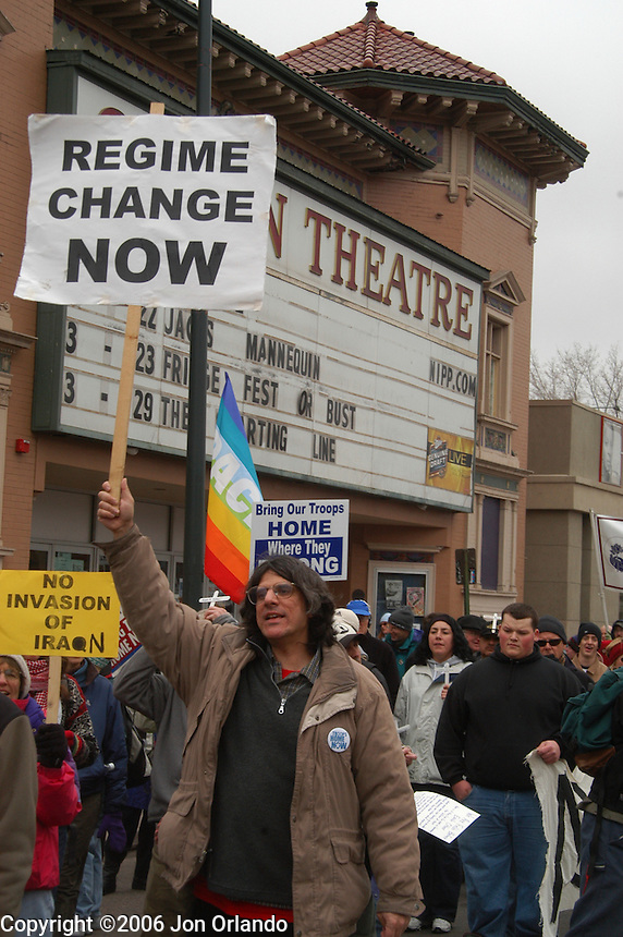 Several thousands citizens joined the anti-war march and rally in Denver on March 19th, 2006 commemorating the 3rd anniversary of the invasion of Iraq.