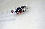 7 February 2009: Wilfried Huber slides for Italy in the Men's Competition at the 41st FIL Luge World Championships, in Lake Placid, New York, USA. .  .Mandatory Photo Credit: Ed Wolfstein Photo