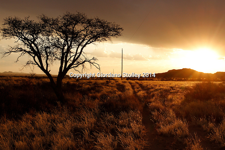 GRÜNAU - 3 July 2014 - Sunset near the southern Namibian town of Grünau. Picture: Allied Picture Press/APP