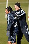 Madrid (24/02/10).-Entrenamiento del Real Madrid..Cristiano Ronaldo y Marcelo...© Alex Cid-Fuentes/ ALFAQUI..Madrid (24/02/10).-Training session of Real Madrid c.f..Cristiano Ronaldo and Marcelo...© Alex Cid-Fuentes/ ALFAQUI.