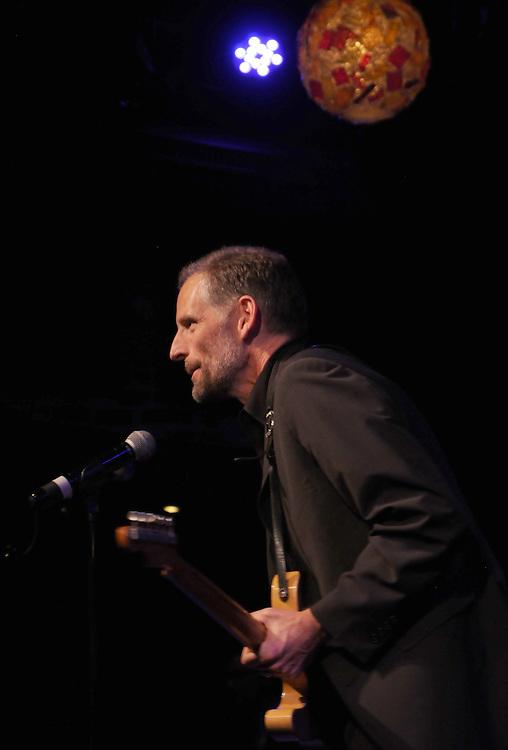 Guitarist, Rick Holstrom, backing Mavis Staples, performing at the Helsinki Hudson, in Hudson, NY, on Sunday, February 22, 2015. Photo by Jim Peppler. Copyright Jim Peppler 2015.