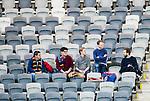 Stockholm 2015-03-05 Fotboll Svenska Cupen Djurg&aring;rdens IF - IFK Norrk&ouml;ping :  <br /> Publik bland tomma stolar p&aring; l&auml;ktaren i Tele2 Arena under matchen mellan Djurg&aring;rdens IF och IFK Norrk&ouml;ping <br /> (Foto: Kenta J&ouml;nsson) Nyckelord:  Djurg&aring;rden DIF Tele2 Arena Svenska Cupen Cup IFK Norrk&ouml;ping Peking inomhus interi&ouml;r interior supporter fans publik supporters